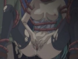 Tentacles penetrate every hole of poor babe in hentai from Hentai Video World