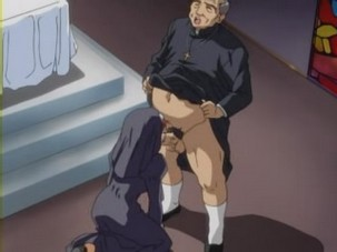 Hentai with nun badly pumped by the priest. Dirty hentai movie with pretty nun hardly pussyfucked by nasty priest
