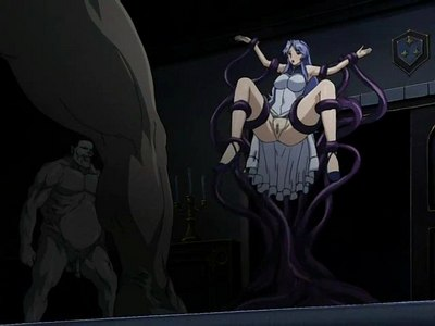Elegant girl get hammered by a scary tentacle monster. Pleasant girl get hammered by a scary tentacle monster in a weird palace