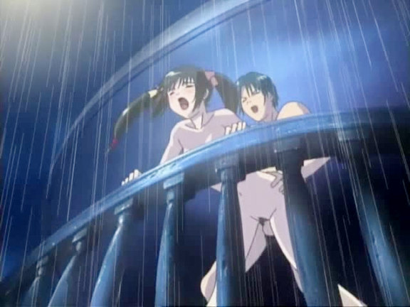 Charming gal loses virginity under the rain. This excited hentai movie is for those of you who love romantics above all. The pleasant young lady is losing the virginity with her beloved man on the balcony under the warm streams of summer rain.