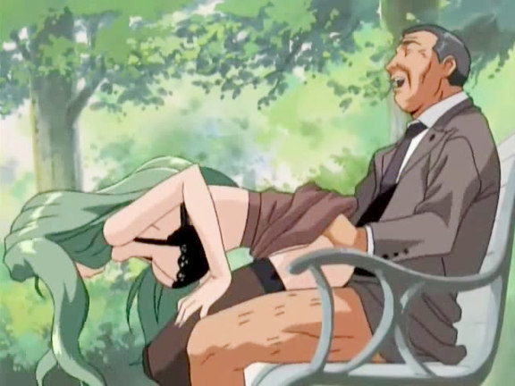 Make love couple gets voyeured in a park. This lewd hentai couple should have been more careful and attentive when decided to have sex on the park bench. They plunged into the delight having no idea the man was voyeuring them from the bushes.