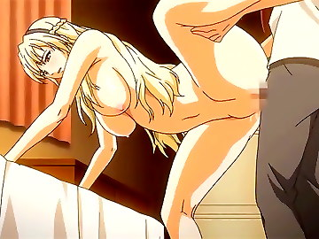 Sexy hentai cuties are banged really hard
