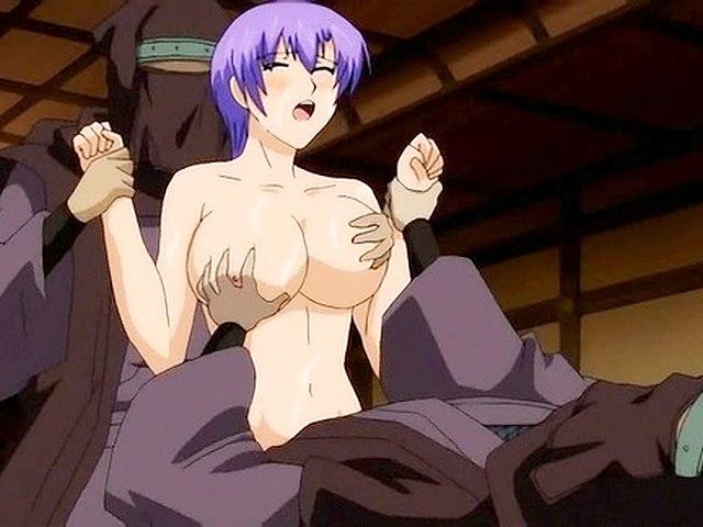 Sauna fuck with blonde anime hottie.