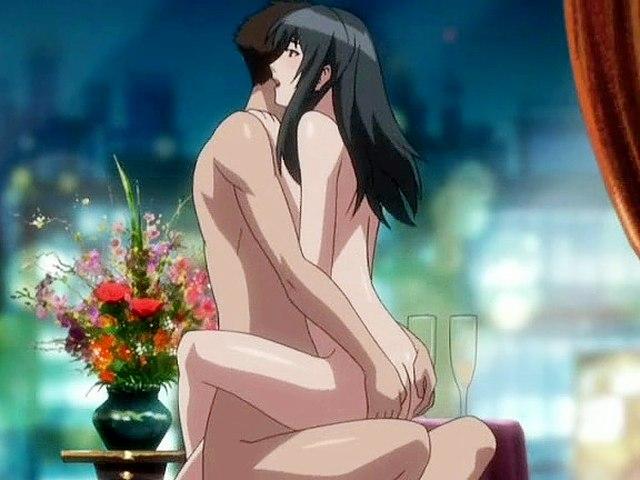 Pleasant anime girl jumps on big cock