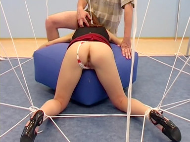 Tied businesslady is real goods, especially from behind!