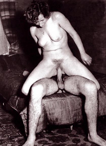 Черно белое старое порно фото
