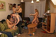 Hot photos with lewd stud having wild fuck orgy from Student Sex Parties