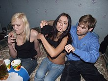 Wild group of students heavily pairing off before camera from Student Sex Parties