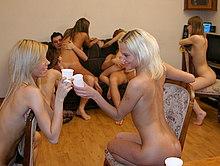 Drunken gals agree for wild sex session