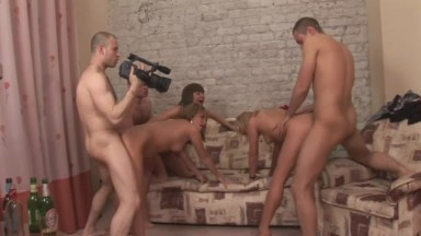 Salacious studs plunged into group fuck from Student Sex Parties