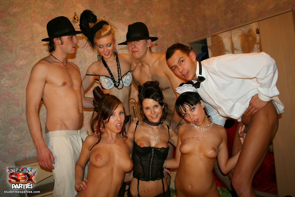 Retro Style Group Sex Party College pussy: sweet foresome action in <b>retro style</b> at <b></b>